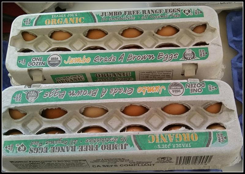 Jumbo eggs in a carton