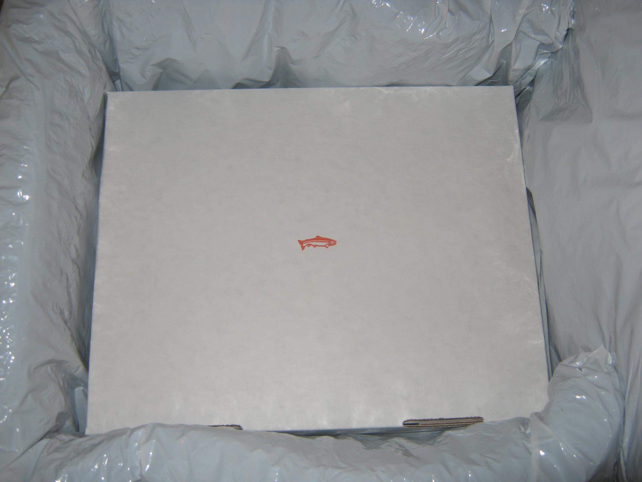 Fish inside of box from Vital Choice