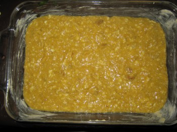 Gluten free banana walnut bread batter