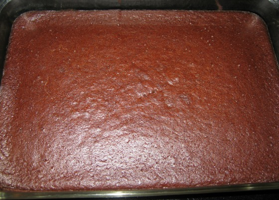Uncut gluten free brownies in a baking dish