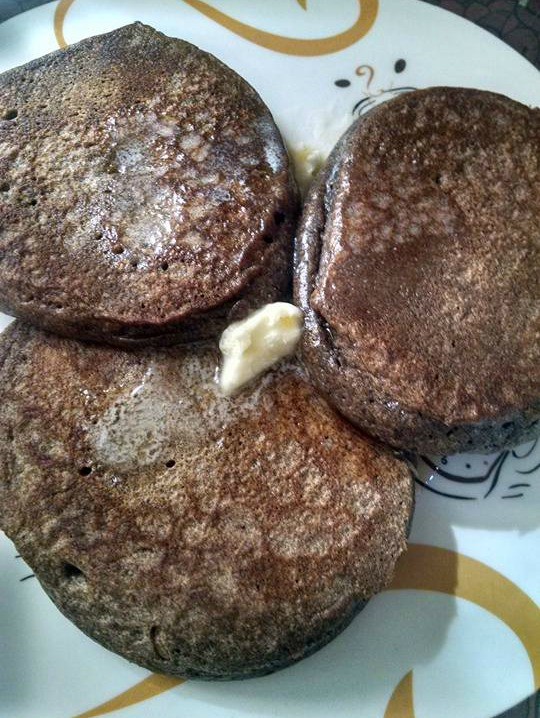 Gluten free buckwheat pancakes with butter