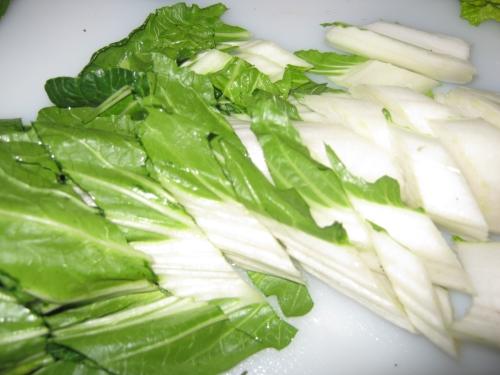 chopped bok choy