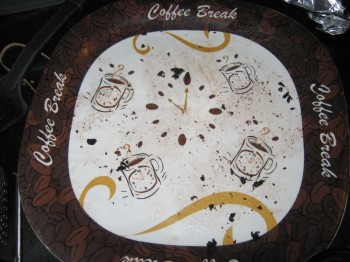 Empty brownie plate
