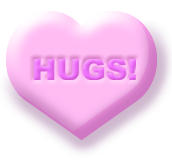 Hugs candy cartoon