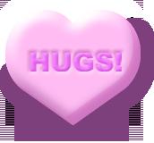 Hugs candy cartoon