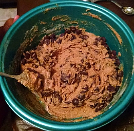 Mixed chocolate chip cookie dough