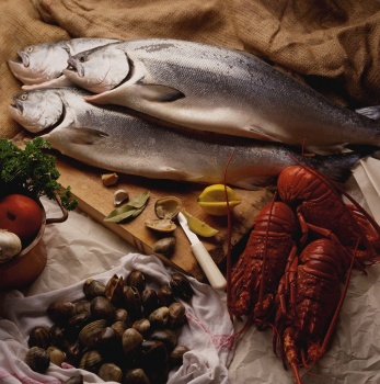 Salmon and sea food