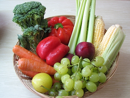 vegetables and fruit plate