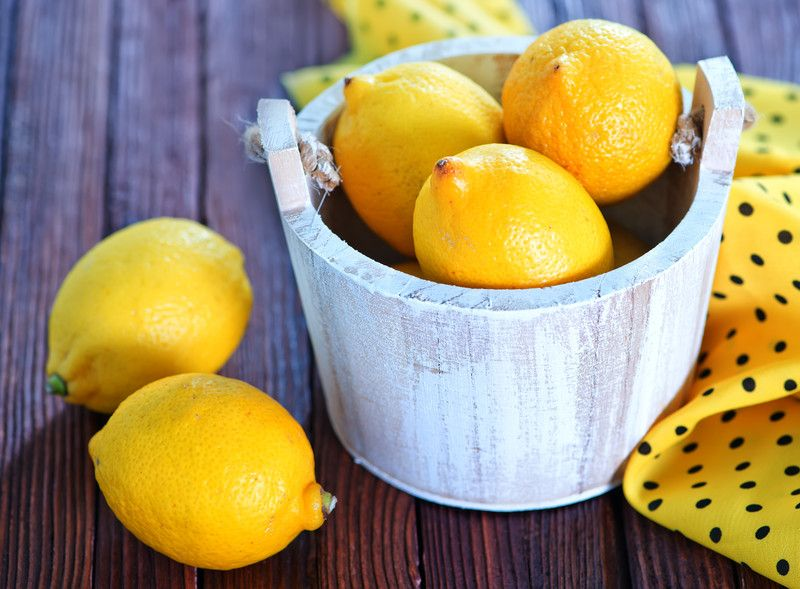 lemons in a basket