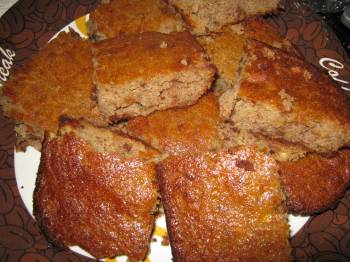 Cut up gluten-free banana bread