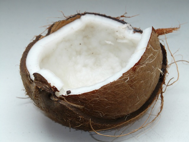 Coconut cut open